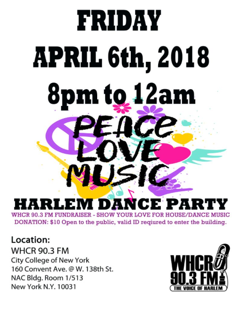 Harlem Dance Party Flyer