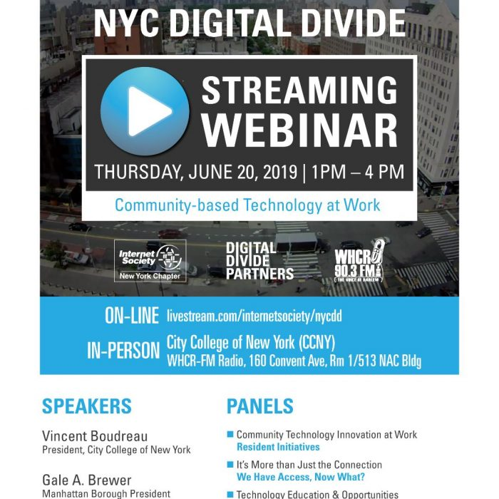 Digital Divide Webinar promotion