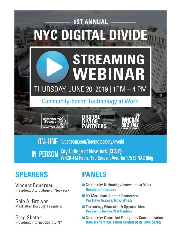 Digital Divide Webinar promotion