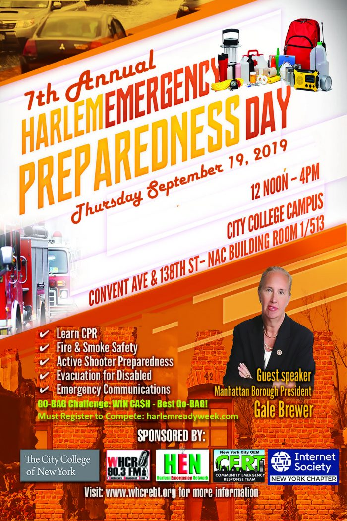 Harlem Emergency Preparedness Day promotion