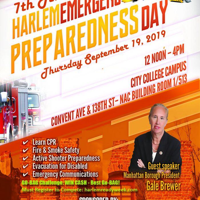 Harlem Emergency Preparedness Day promotion